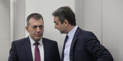 Γιάννης Βρούτσης - Κυριάκος Μητσοτάκης (Copyright: Eurokinissi/Γιάννης Παναγόπουλος